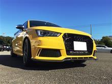 S1 スポーツバックHitotsuyama GmbH Audi A1(後期)/S1 RSタイプ フロントグリルの単体画像