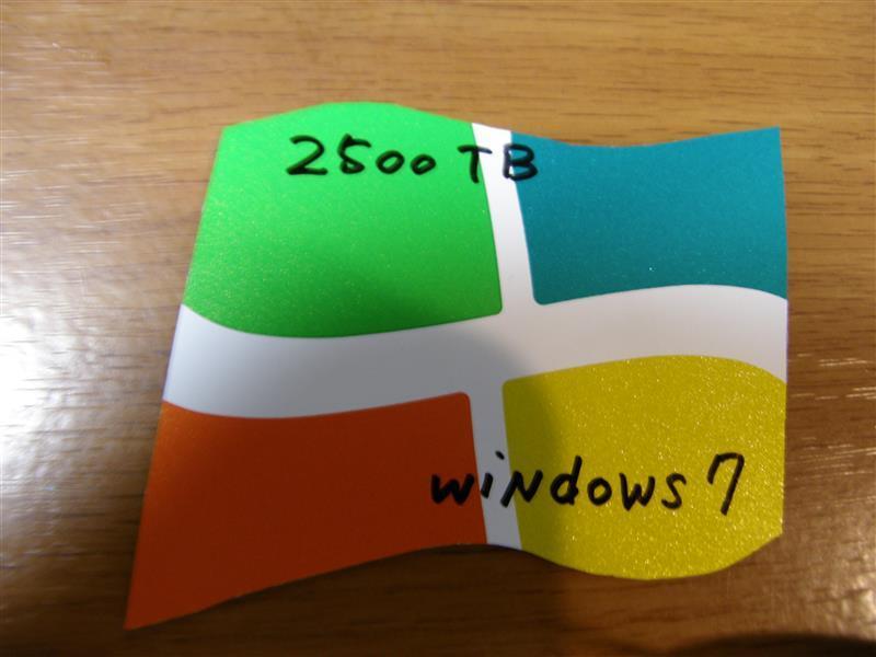 ダイソー Windows 7 高齢者運転マークの続き