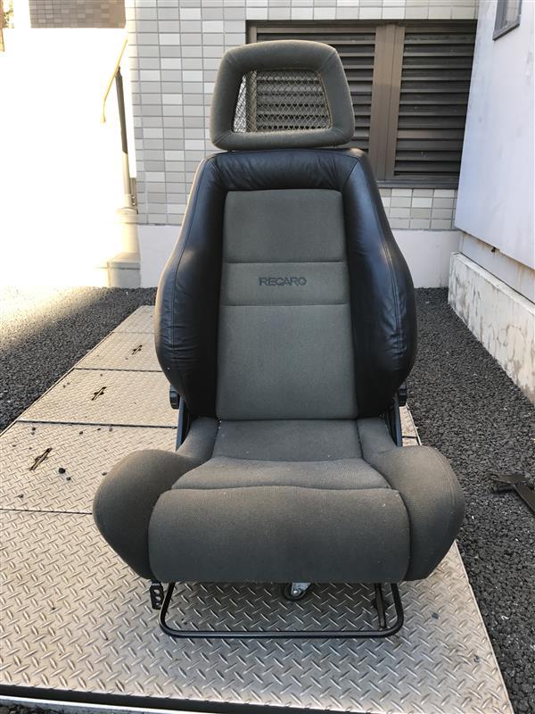 自作 レカロLS 牛革製バックシートカバー