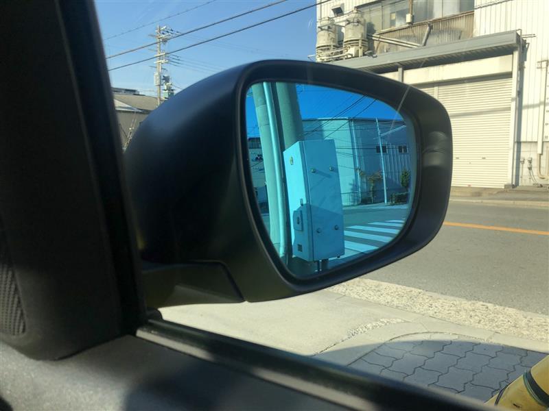 スズキ(純正) ハイドロフィリックドアミラー(ブルー)