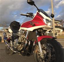 CB1300スーパーボルドールr's gear ワイバン シングル 真円ドラッグブルー の全体画像