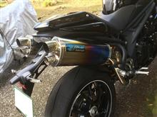 スピードトリプルRBlueFlame EVO スリップオンツインポートマフラーの単体画像