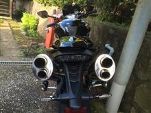 スピードトリプルRBlueFlame EVO スリップオンツインポートマフラーの全体画像