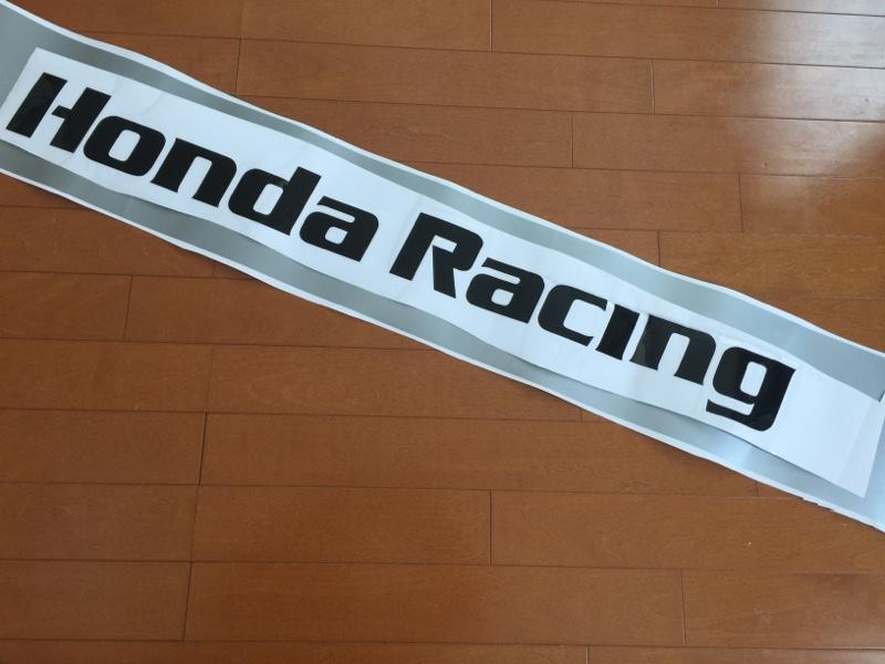 不明 HONDA RACING ウインドウステッカー(^^)