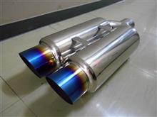 ナビゲーターヤフオク チタン発色 サイレンサー ワンオフ 100Φ 砲弾の単体画像