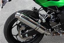 Z250SLWR'S スリップオンマフラー ラウンドタイプ ステンレスの単体画像