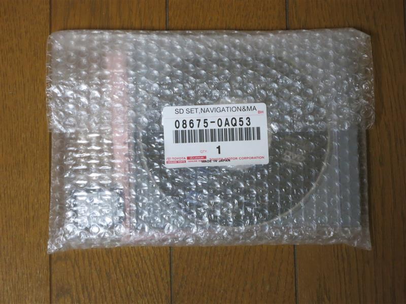 トヨタ(純正) HDD・SDナビ地図データ更新
