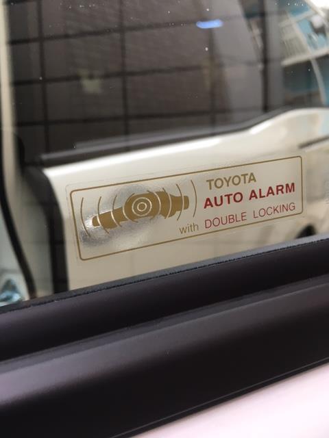トヨタ(純正) セキュリティーステッカー