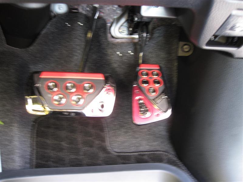 CAR MATE / カーメイト RAZO GTスペック ペダルセット AT-S カーボン&レッド RP101RE