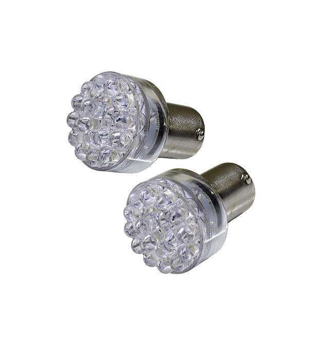 ピカキュウ S25S 24連LEDシングル口金球 無極性 LEDカラー:ホワイト