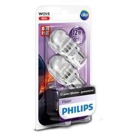 PHILIPS  テールランプ ストップランプ LED バルブ T20ダブル (W21/5W) レッド 12V 2.7W アルティノン Ultinon LEDシリーズ 2個入り