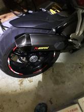 ムルティストラーダ1200SAKRAPOVIC スリップオンサイレンサーの単体画像