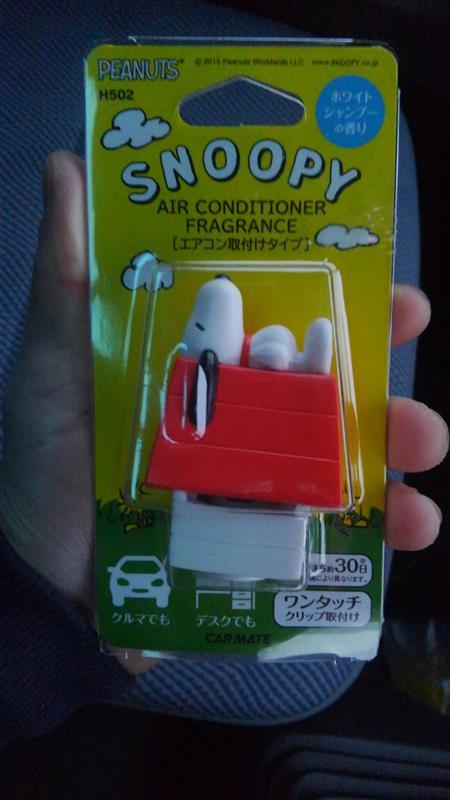 CAR MATE / カーメイト SNOOPY エアーコンディショナーフレグランス ホワイトシャンプーの香り (H502)