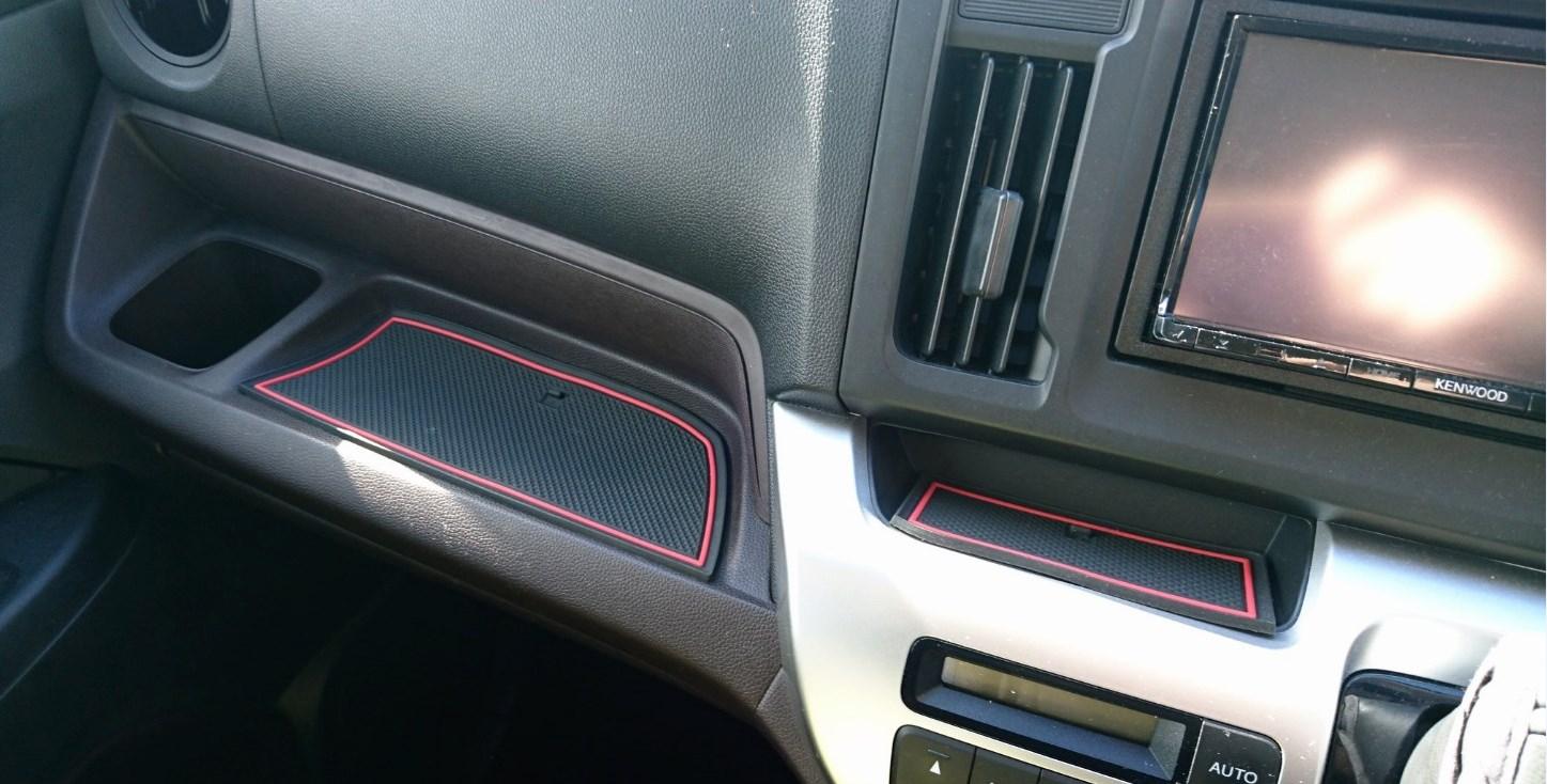 KINMEI ホンダ N-WGN 赤 専用設計 インテリア ドアポケット マット