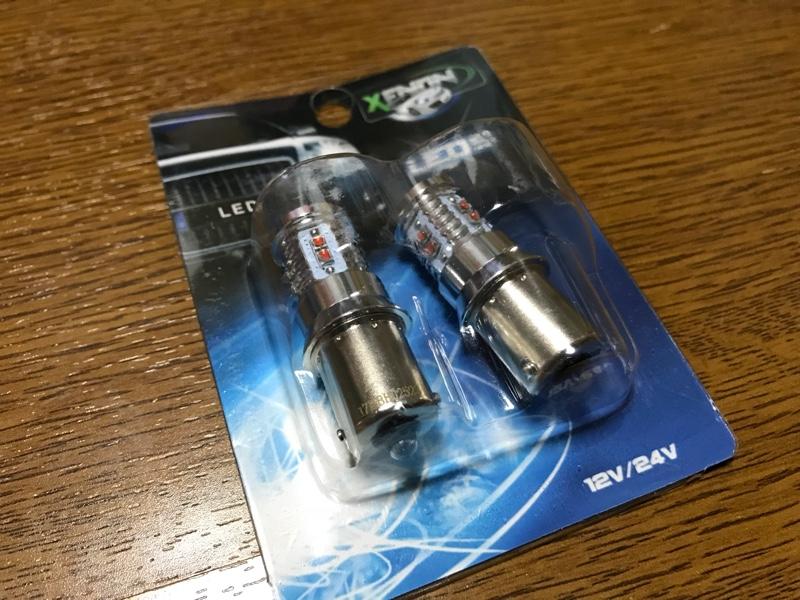 RAIKO CREE製10LEDバルブ S25バルブ 180度ピン(アンバー) (BSA180)
