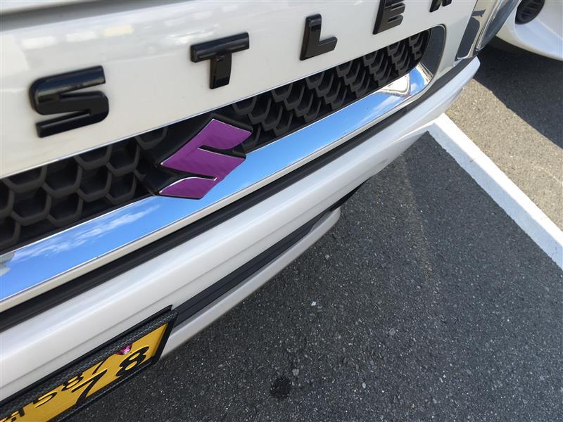 AP エンブレムステッカー カーボン調