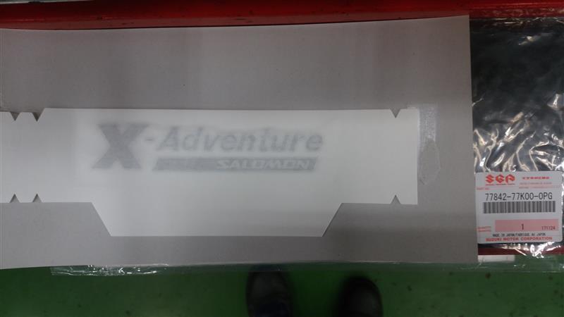 スズキ(純正) X-Adventure ロゴ