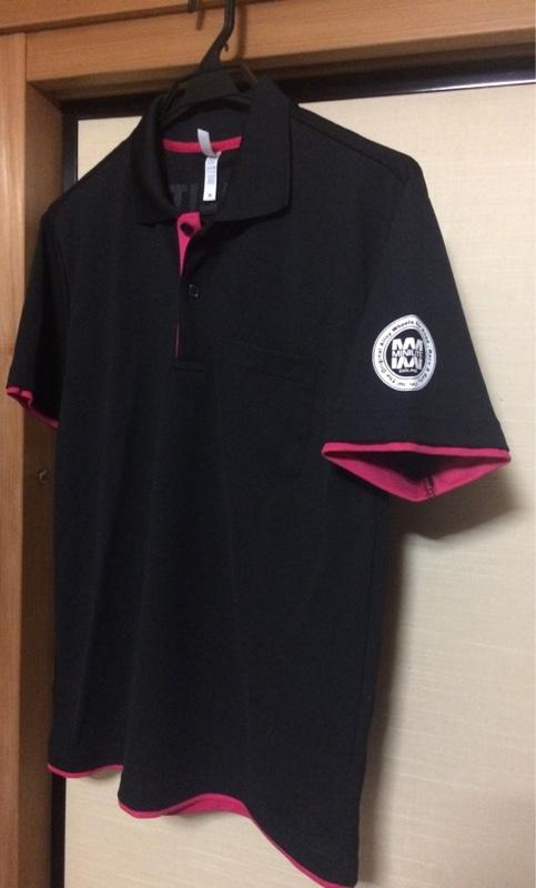 MINILITE MINILITEポロシャツ(ブラック×ピンク)