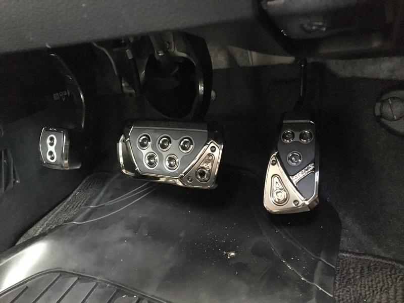 CAR MATE / カーメイト RAZO GT SPEC ペダル フットパーキングブレーキペダル ブラックメッキ