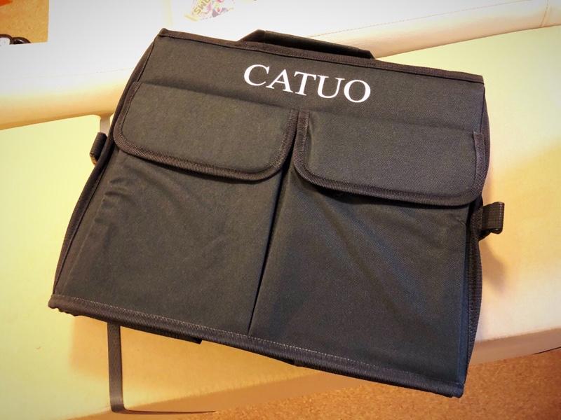 CATUO 車用収納ボックス  60x40x33cm 大中小型車用