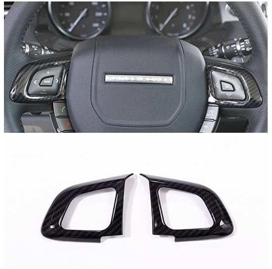 不明 Carbon-Fiber-Steering-Wheel-Buttons-Frame-Cover-For-Range-Rover-Evoque-2014-17