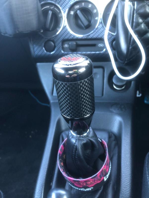 CAR MATE / カーメイト カーボンMTノブ ブラック300 ブラック / RA65