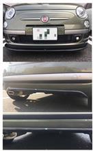 フィアット500 C (カブリオレ)COBALT カーボンリップスポイラーの全体画像