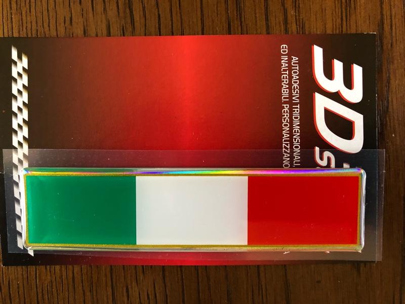 不明 イタリア国旗3Dステッカー