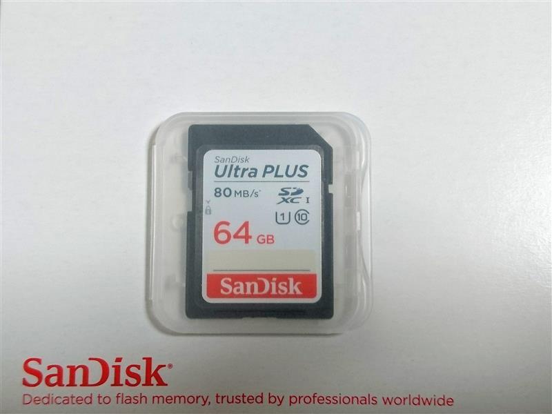 Sun Disk ウルトラ プラス SDXC UHS-I カード 64GB
