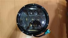 ゼファー750GREENBEAN 7インチJK LED ヘッドライト 75W CREE製 H4 Hi/Lo 切り替え型の単体画像