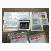 US HONDA 純正 Caution Labels