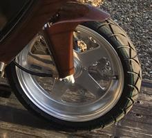 ジャイロキャノピーDAYTONA(バイク) 5本スポーク アルミホイールの単体画像