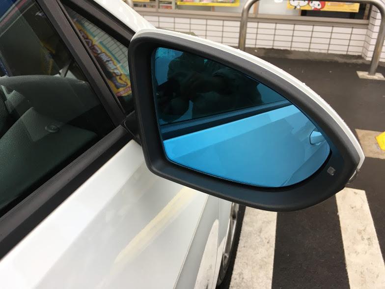 AUTO STYLE WIDE VIEW BLUE DOOR MIRROR LENS (Golf7)