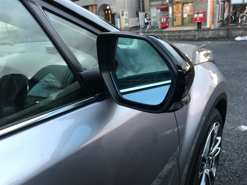 トヨタ純正 レインクリアリングブルーミラー