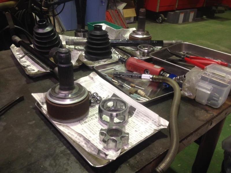 菱木レーシング 追加工研磨ドライブシャフト(スーパーGTで使用されているグリス封入品)
