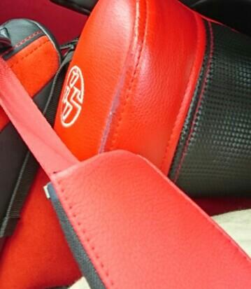 不明 赤いシートベルト