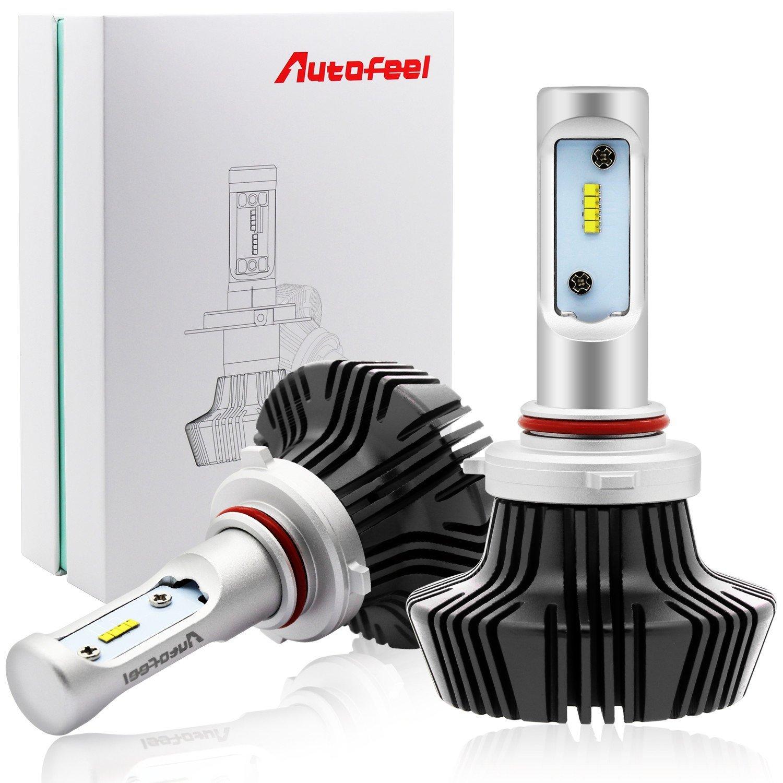 Autofeel hb3 LEDヘッドライトバルブ ハイビーム  車検対応 9005 6500k 8000LM