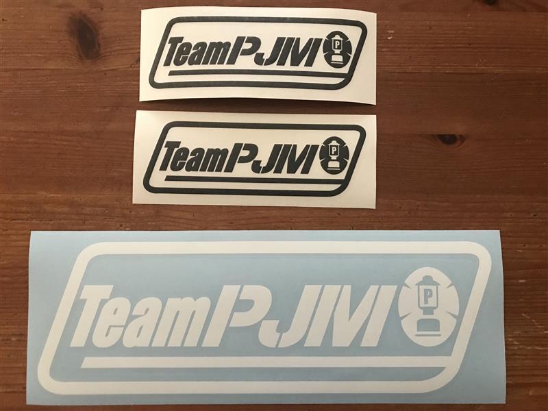 Team PJM オロジナル キャンプ同好会ステッカー(大)(小)