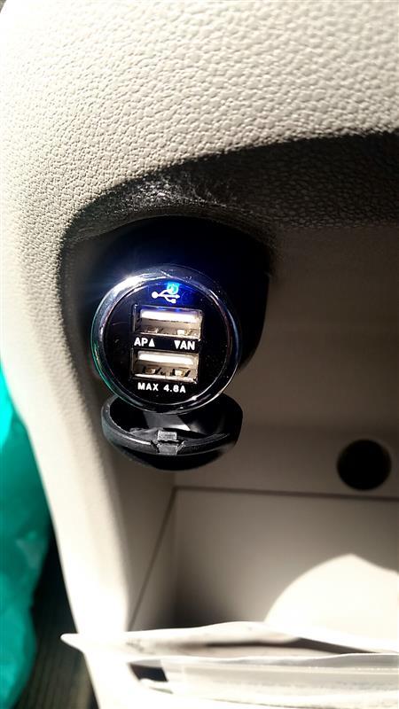 オートバックスセブン USB 2ポート付きプラグ(4.8A)