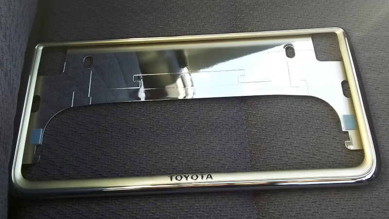 トヨタ(純正) ナンバーフレーム プレステージタイプ