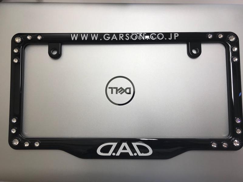 D.A.D / GARSON  ラグジュアリークリスタルライセンスフレーム ブラック