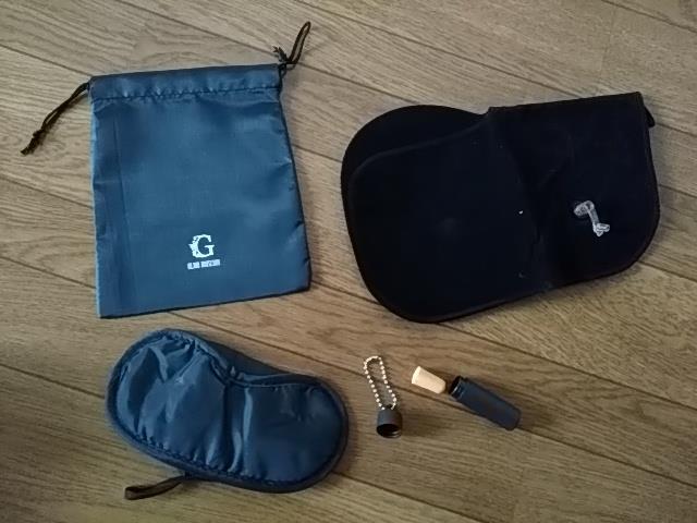 G-LIONオリジナルグッズ アイマスク、イヤホン等