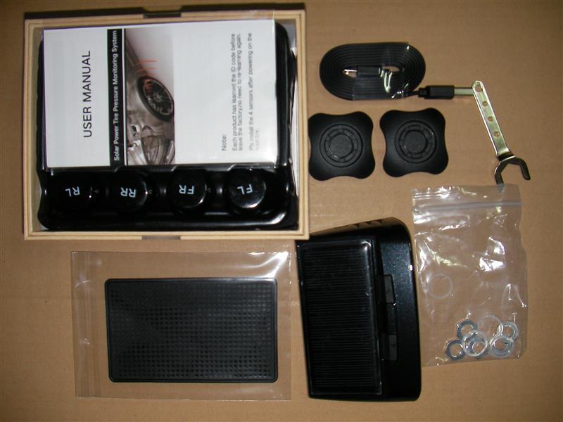 Carledlight ソーラーワイヤレスタイヤ空気圧モニタリングシステムTW400
