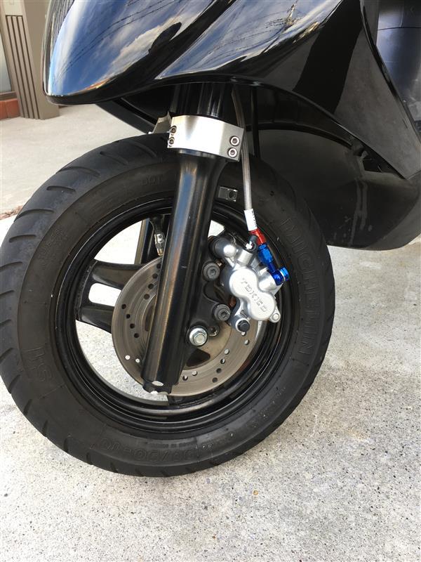油漢 強化ブレーキキャリパー&パットセット KX85純正キャリパー