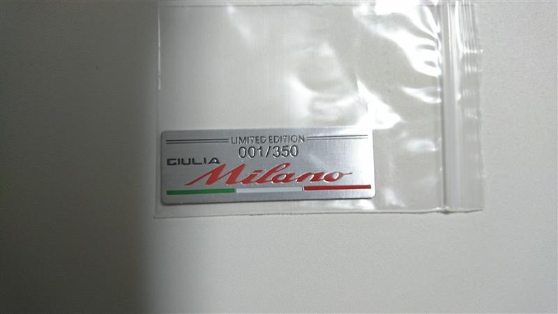 メーカー・ブランド不明 センターコンソール立体ステッカー ガーニッシュ ★GIULIA Milano 限定販売