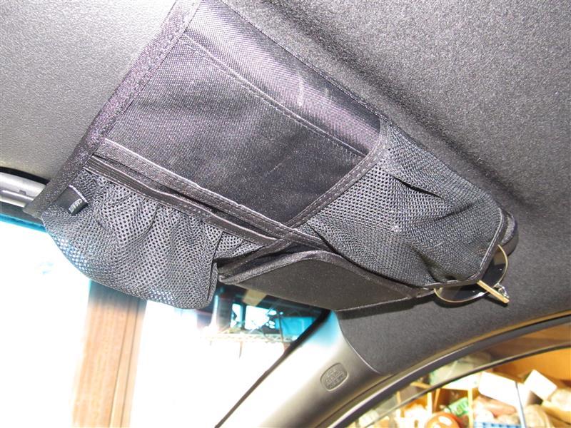 CAR MATE / カーメイト サンバイザーポケット2 ブラック / CZ35