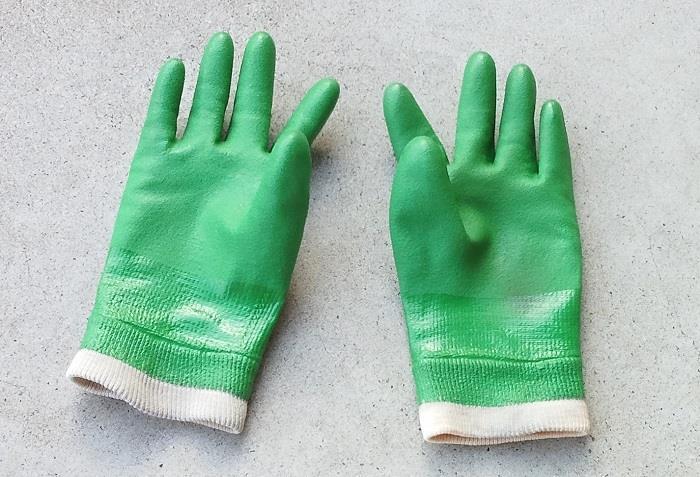 SHOWA グリーンジャージ 作業用ビニール手袋
