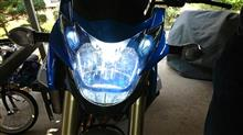 GSR750ABSSphere Light RIZINGⅡ LED HEADLIGHT H4 Hi/Lo 6000Kの単体画像