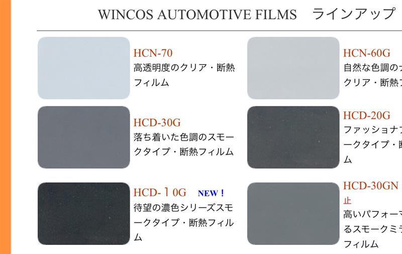 LINTEC ウインコス オートモーティブフィルム HCD-20G