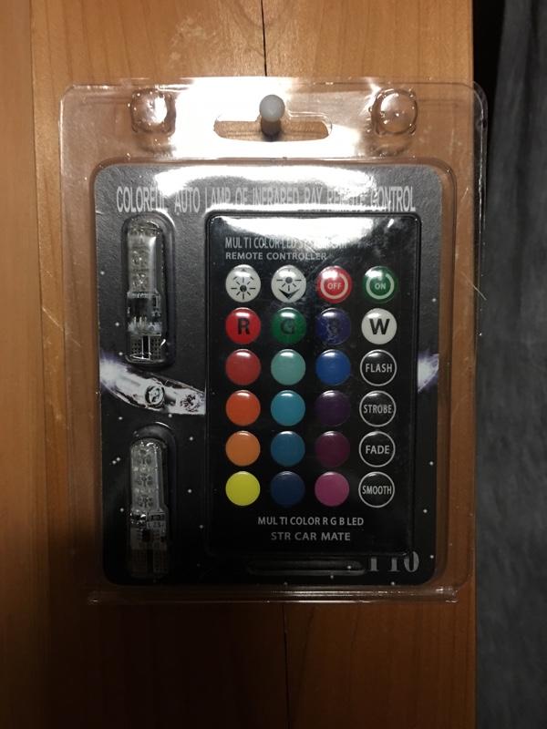 不明 T10 T16 LED バルブ フルカラー16色 ウェッジ球